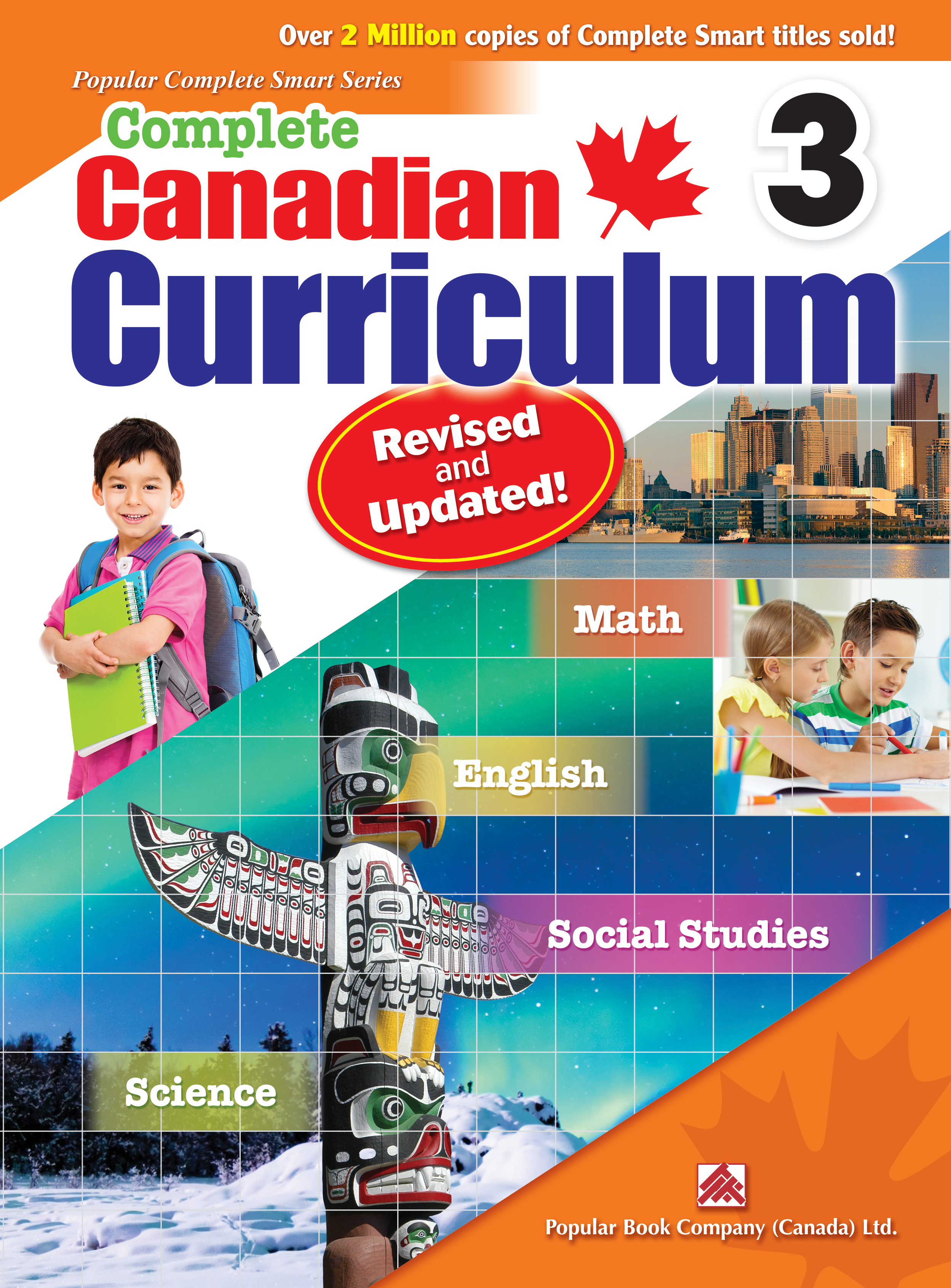 Revised /& Updated Complete MathSmart 3 Canadian Curriculum Math Workbook for Grade 3