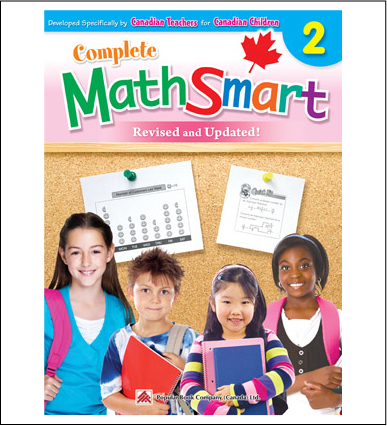 Canadian Curriculum Math Workbook Complete MathSmart grade 2