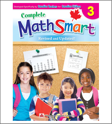 Canadian Curriculum Math Workbook Complete MathSmart grade 3