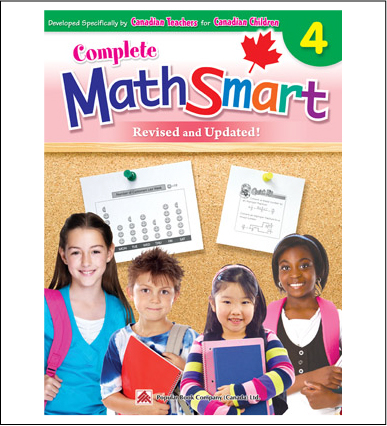 Canadian Curriculum Math Workbook Complete MathSmart grade 4