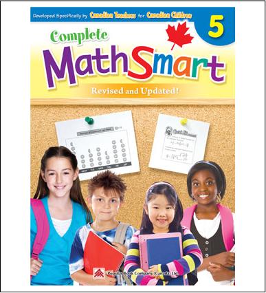 Canadian Curriculum Math Workbook Complete MathSmart grade 5