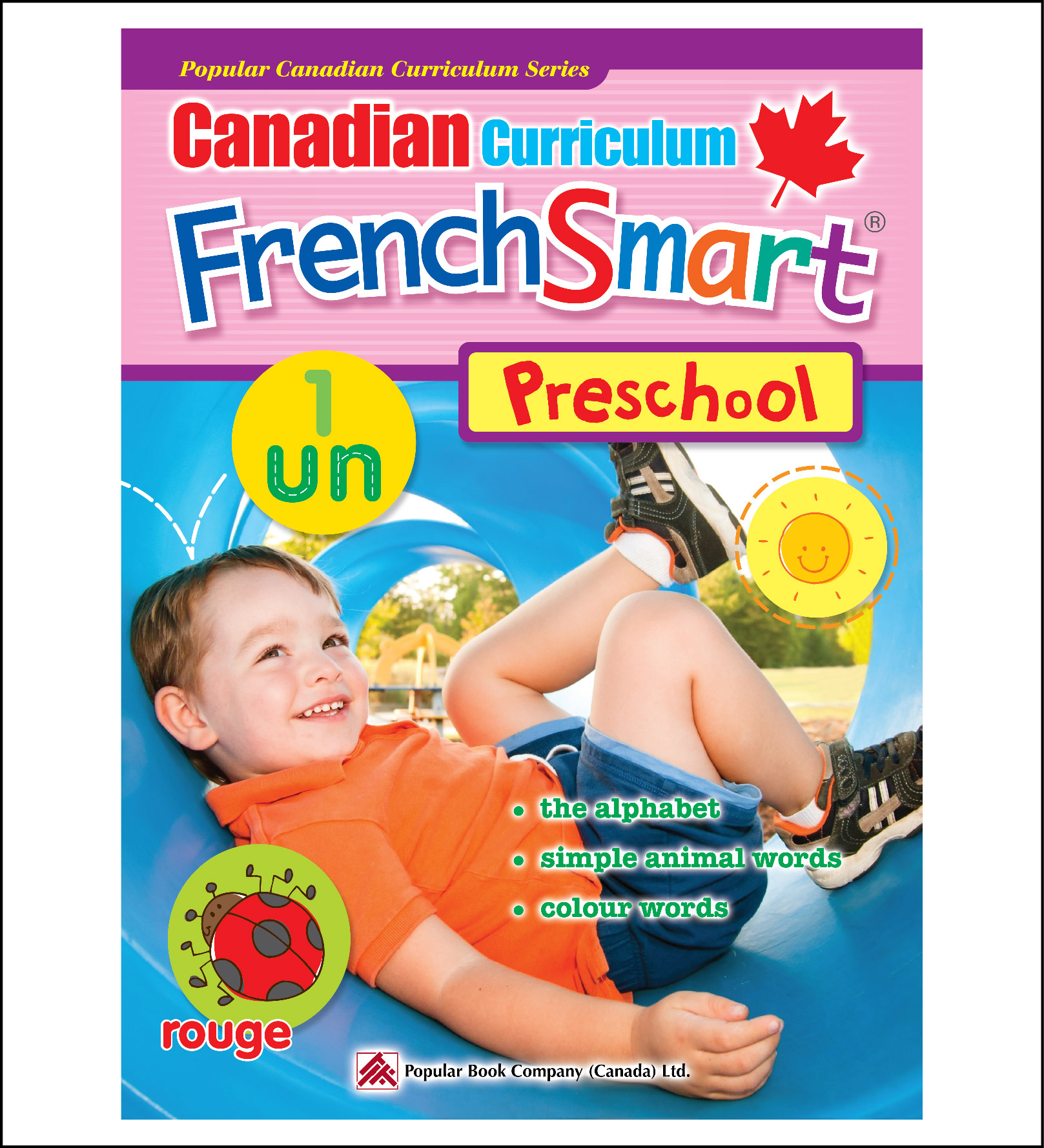 Activity Book for Kids Canadian Curriculum FrenchSmart Preschooll