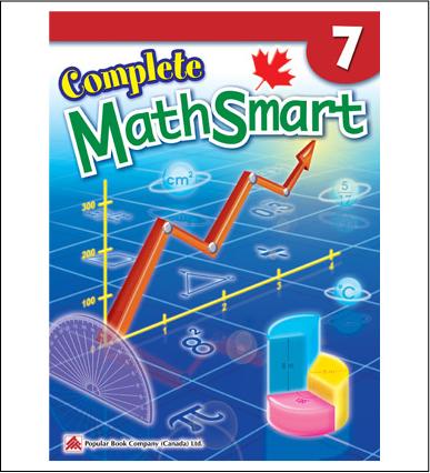 Canadian Curriculum Math Workbook Complete MathSmart grade 7