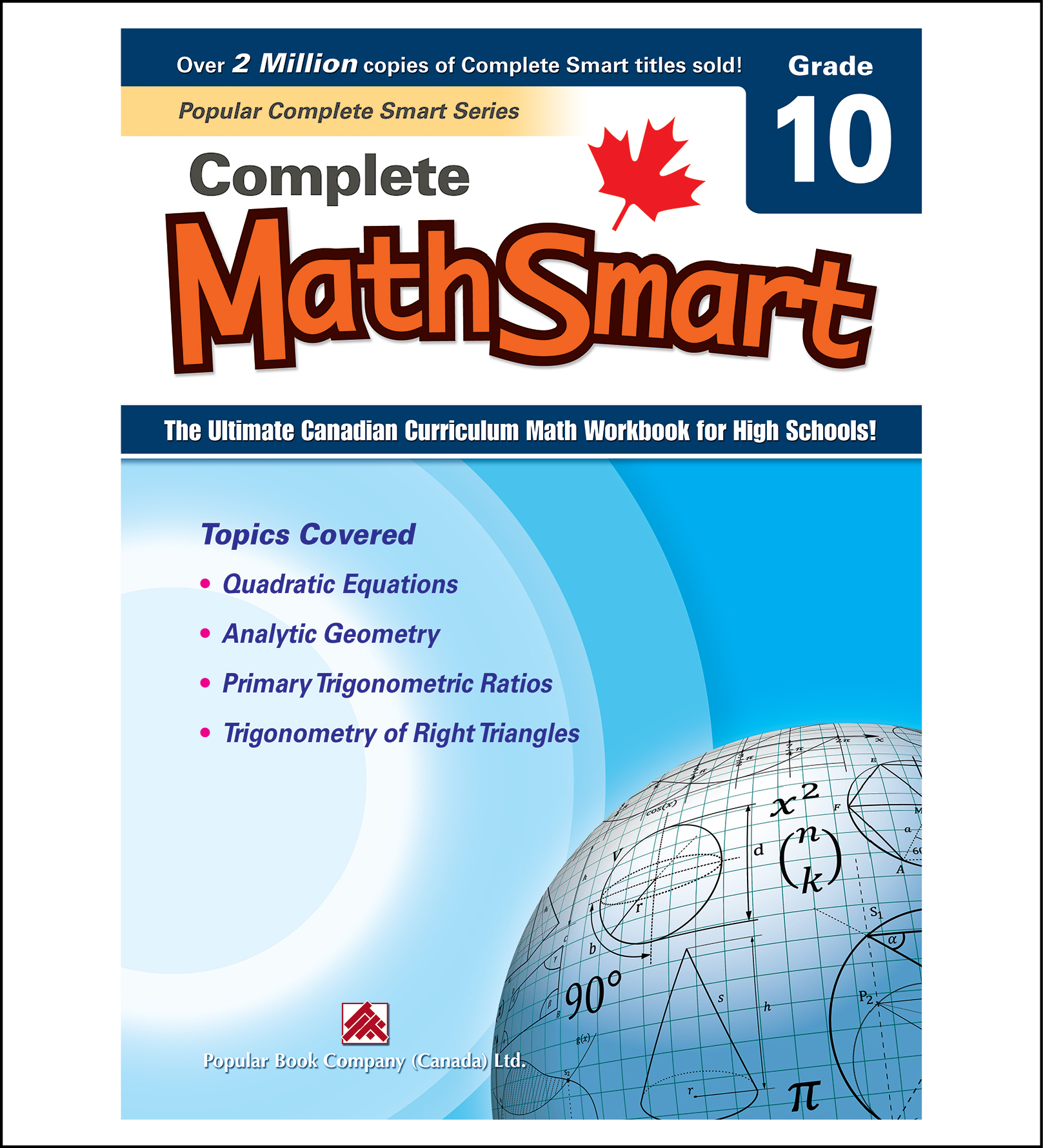 Canadian Curriculum Math Workbook Complete MathSmart Grade 10