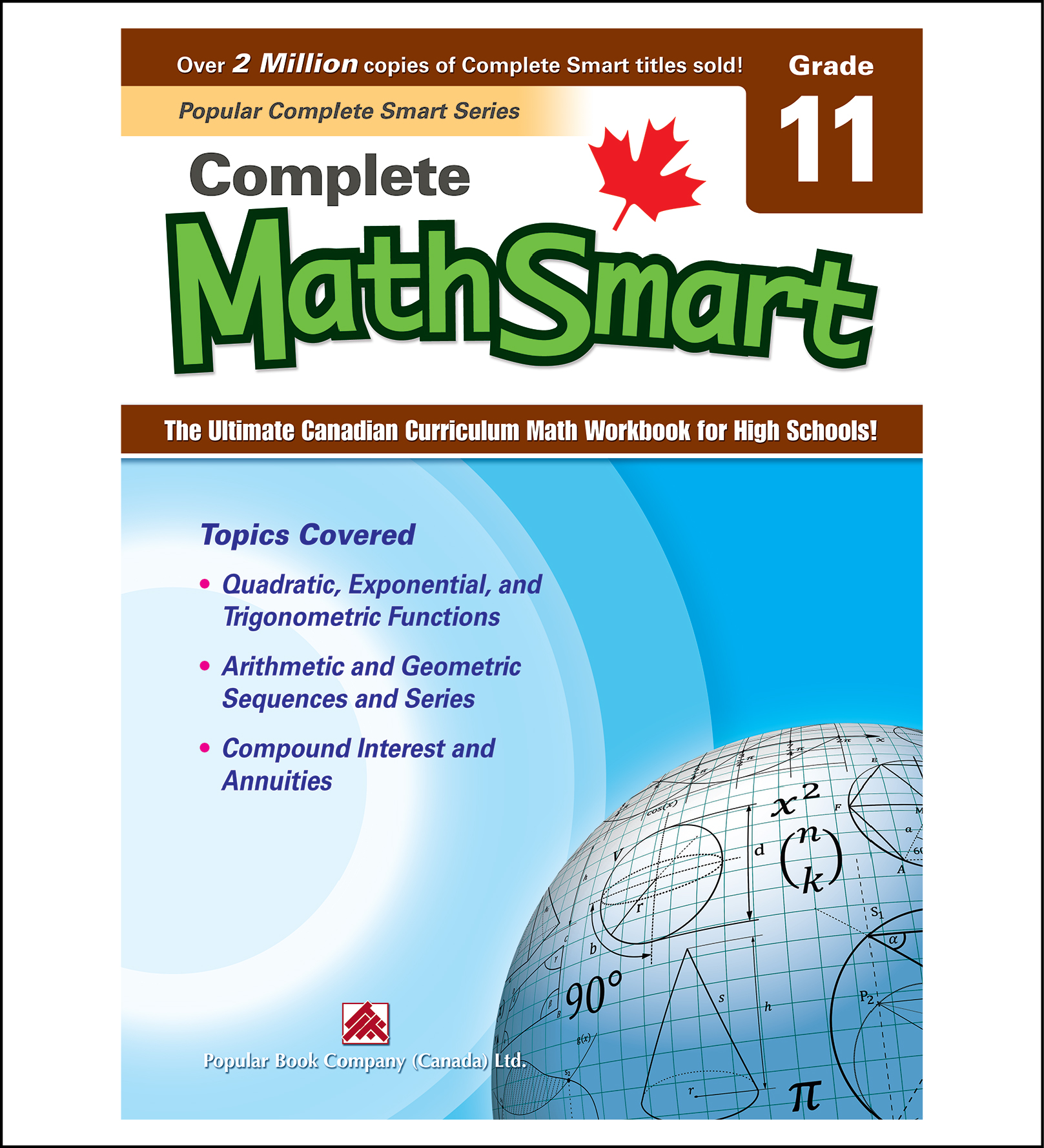 Canadian Curriculum Math Workbook Complete MathSmart Grade 11