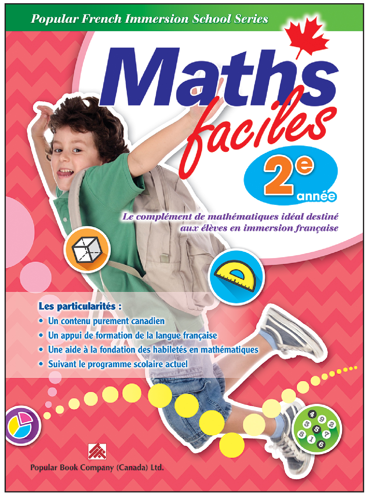 Canadian Curriculum French Immersion Workbook Maths faciles grade 2
