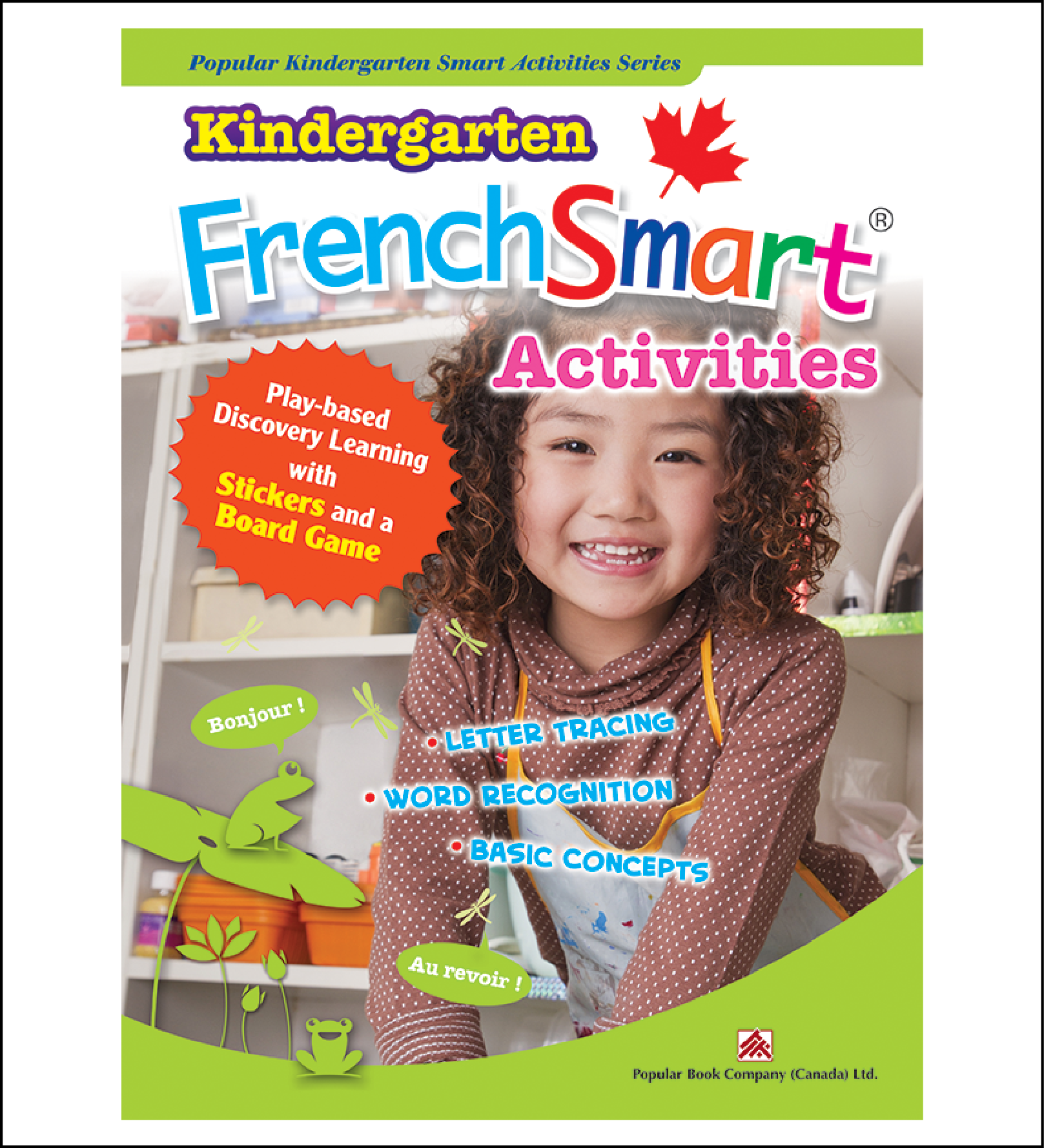 Activtiy book for kids Kindergarten FrenchSmart Activities